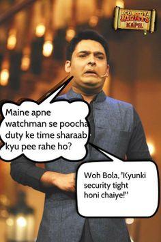 Kapil Sharma joke on Security