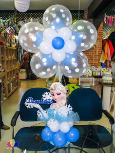 Balloon Centerpieces, Balloon Decorations, Birthday Party Decorations, Party Favors, Balloon Stands, Balloon Display, Frozen Birthday Party, Frozen Party, Birthday Parties
