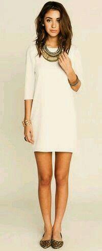 An amazing white short dress