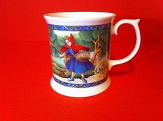 QUEENS FINE BONE CHINA COFFEE CUP LITTLE RED RIDING HOOD ENGLAND CHURCHILL BRAND