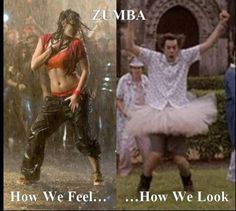 Zumba...I am pretty sure I definitely look like an idiot but I have fun doing it!