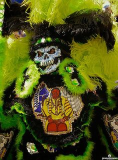 Mardi Gras Indians on Super Sunday, New Orleans, Louisiana, 3/21/09  www.groovescapes.com