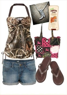 Camo Swim Outfit # Country # Country Girl (perfect for my extra baby skin and its so damn cute)