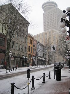 downtown Vancouver snow