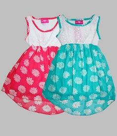 Wholesale Girls Summer Fashion GLP73412 Girls 7-16 Chiffon Hi-Lo Dress SKWholesale.net
