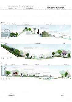 Landscape Arquitecture, Landscape And Urbanism, Landscape Architecture Design, Landscape Plans, Landscape Drawings, Urban Landscape, Landscape Architecture Section, Render Architecture, Architecture Graphics