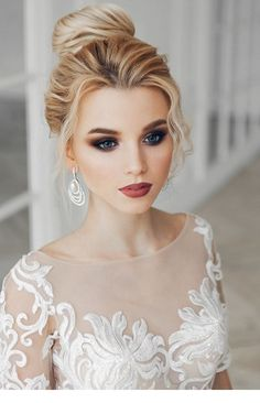 Glam wedding day makeup idea