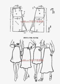 Chinese method of pattern making - skirts - SSvetLanaV - Álbumes web de Picasa: