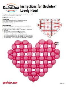 The Very Best Balloon Blog: How to make a simple Quick Link Heart... for the uninitiated Quick Link users!