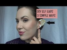 In this tutorial I show 3 easy ways to DIY elf ears! All ways are very simple. Use tape, preferrably a worker/painter tape that is white/yellowis. Fairy Costume Diy, Easy Diy Costumes, Costume Ideas, Elf Cosplay, Comic Con Cosplay, Cosplay Ideas, Elfa, Elf Clothes, Elf Ears