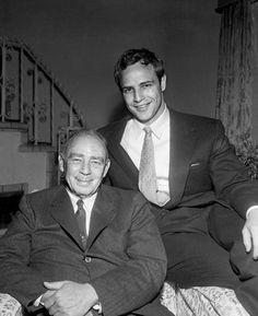 Marlon Brando, Sr. and Marlon Brando, Jr. #Brando #1955 1955