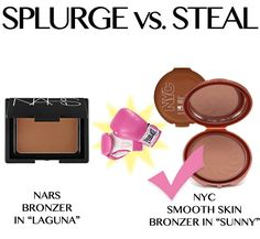 "And another one:  Nars Bronzer (""Laguna"") vs NYC Smooth Skin Bronzer (""Sunny"")"