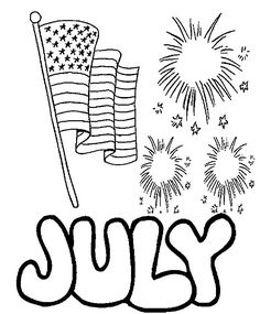 106 Best 4th Of July Coloring Pages