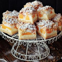 Cheesecake with peaches--everything I ever wanted in a dessert...