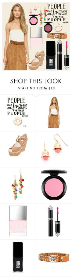"""""""Fashion with passion"""" by gadinarmada-1 ❤ liked on Polyvore featuring Free People, Aurélie Bidermann, Rosantica, MAC Cosmetics, Butter London, Guerlain, JINsoon and Diesel"""