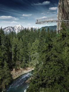 Cliffwalk at Capilano Suspension Bridge, Vancouver, Canada