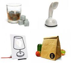 """Una veloce selezione su Goolp per i vostri veloci (manca poco ormai..) regali di Natale. Siete amanti del whisky ma non volete annacquarlo con i cubetti di ghiaccio? Whiskey stones sono sassolini di pietra saponaria da tenere in freezer, dove diventeranno gelidi come ghiacciolini. Per gli amanti del vintage Scandiphone riproduce il leggendario telefono Ericofon degli anni'50. Draw Lamp è una lampada in ceramica che puoi """"customizzare"""" come vuoi...."""