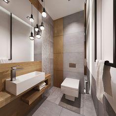 All-Design Small Basement Bathroom, Small Toilet Room, Bathroom Layout, Bathroom Interior Design, Bathroom Ideas, Contemporary Bathrooms, Modern Bathroom, Wood Bathtub, Small Basements