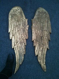 Angels Wings Sold as Pair Gold Leaf Hand Carved Wood Over 3 ft Long ...