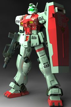 RGM-79C GM Type C (aka GM Kai) is an improved version of one of the Earth Federation's first mass production mobile suit, the RGM-79(E) GM Early Type. It first appeared in Mobile Suit Gundam 0083: Stardust Memory. Front