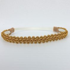 This Amusing Braided Gold Halo Headband is wide. All of my headbands are handmade;