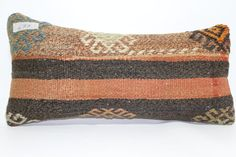 8x18 anatolian kilim pillow throw pillow 8x18 decorative kilim pillow home decor striped kilim pillow cushion cover SP2045-477