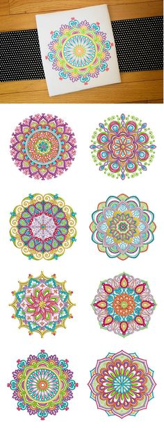 Wunderbare Mandalas Set 2 - New Releases - Mandala Design, Mandala Art, Mandala Painting, Dot Painting, Stone Painting, Free Machine Embroidery Designs, Hand Embroidery, Quilling, Pottery Designs