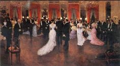 An Evening Soiree - Jean Beraud, French Impressionist Painter #paintingstogo.com