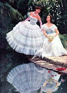 #Fashion #Dresses #Gowns #Photoshoot #1950s