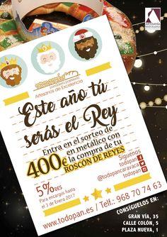 Quieres 400€ EN METÁLICO? 400€ para gastar en lo que quieras!! En cada Roscón de Reyes TODOPAN encontrarás un código para participar en el Sorteo de 400€ EN METÁLICO!! Introduce el código en esta aplicación y participa. Mucha Suerte. Este año... TÚ SERÁS EL REY ;) https://premium.easypromosapp.com/p/614579