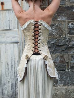 Gorgeous upcycled corset #upcycled #womensfashion  http://www.stylehive.com/site/flickr.com/tag/upcycled_fashion/recent/grid/0