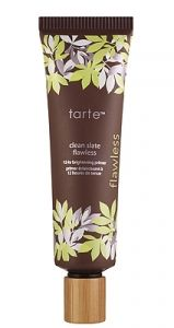 tarte clean slate™ flawless 12-hour brightening primer helps makeup stay in place longer while brightening skin for a healthy, glowing complexion. Ideal for all skin types, this hydrating base keeps your makeup in place for up to 12 hours of perfect wear time, it's also a quick fix for tired or sallow skin--just one application and skin looks instantly radiant.