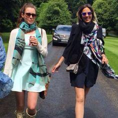 April wearing Mystique and Alexia wearing Manhattan at beautiful wedding in Ireland! #morethanascarf #wedding #fashionfriends #summerscarves