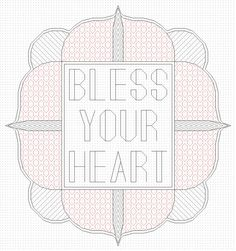 Oh man. I want this! *Bless Your Heart Blackwork Embroidery Pattern by FurrowsHandmade, $8.00*