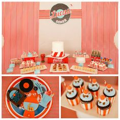 50's Diner soda shop inspired birthday party via Kara's Party Ideas | The Place for All Things Party! KarasPartyIdeas.com