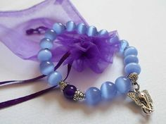 Ganesha Blue Bracelet Hindu Boho Yoga Elephant bracelet, Blue Cat's Eye Bracelet, Natural Stone Jewelry, Hand made Unique OOAK Bracelet by DHANAjewelry on Etsy