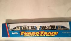 VINTAGE 1987 TYCO TURBO TRAIN WORLDS FASTEST TRAIN! HO SCALE IN BOX Silver/Blue #Tyco