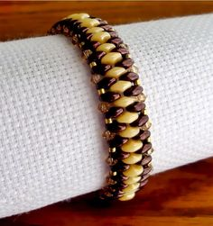 Free pattern for bracelet Just with Superduo | Beads Magic