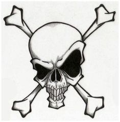 Skull Tattoo Design for Men and Girls : Skull And Crossbones Tattoo Designs