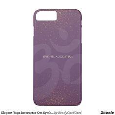 Elegant Yoga Instructor Om Symbol Purple and Gold