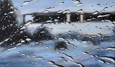 """Rainy Windshield Paintings on Canvas as seen through car windshields. The author-Francis McCrory, says: """"On rainy days, I like to observe the world through Illusion, Art For Art Sake, People Art, Rain Drops, Oil Painting On Canvas, Artist At Work, Drawing Sketches, Drawings, Amazing Art"""