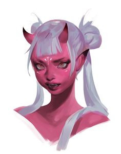 Demon Girls by Rose Benjamin Fantasy Character Design, Character Drawing, Character Design Inspiration, Art And Illustration, Character Illustration, Portrait Illustration, Fantasy Kunst, Fantasy Art, Art Goth
