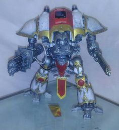The first look at a nearly complete Grey Knight Imperial knight.  The wire work will look better at a later stage (no more dangling wires), the little hole on the top carapace isn't intentional, it does have a little hatch that we will stick on.