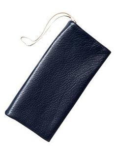 Leather foldover clutch | Gap - $39.95