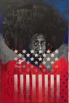 Kap by Charly Palmer. #resistance #protest #kapernick  Black Art In America Fine Art Show in Houston Oct 27-29th at the Buffalo Soldiers National Museum.