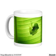 Frog silhouette classic white coffee mug