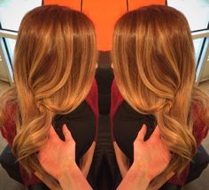 In love with my auburn to golden blonde balayage #honeyblonde #balayage