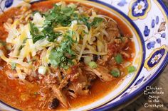 crock pot chicken_enchilada_soup