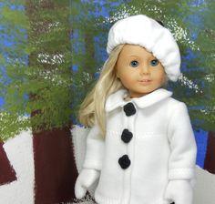 Jeune fille américaine 18 poupée Coat Set noir et par megorisdolls