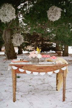 Cute Idea for a guest book table at a wedding